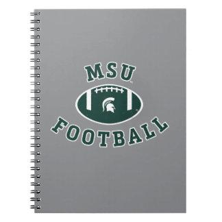 MSU Football   Michigan State University 4 Notebook