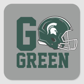 MSU Go Green Square Sticker
