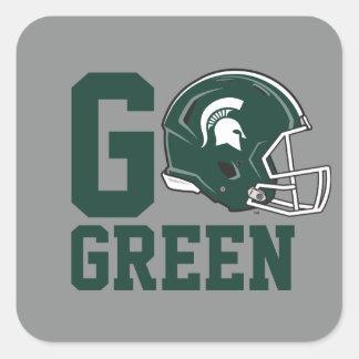 MSU Go Green Square Sticker