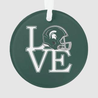 MSU Love Ornament