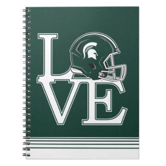 MSU Love Spiral Notebook