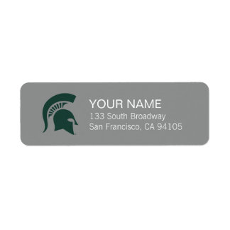 MSU Spartan Label