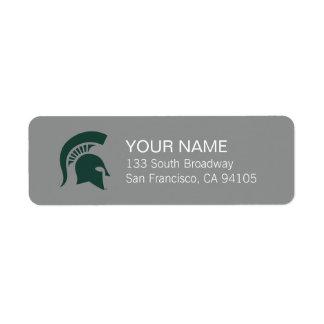 MSU Spartan Label