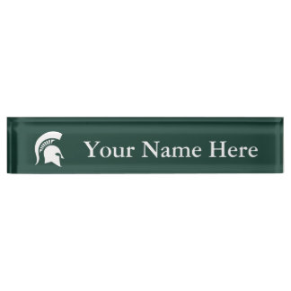 MSU Spartan Name Plate
