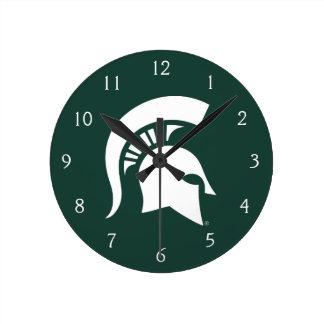 MSU Spartan Round Clock