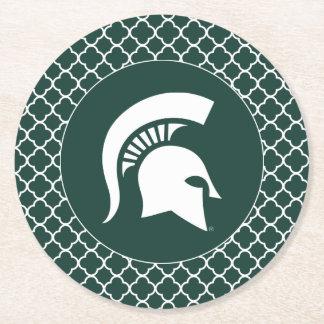 MSU Spartan Round Paper Coaster