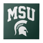 """MSU Spartans Ceramic Tile<br><div class=""""desc"""">Check out these new Michigan State University designs! Show off your MSU Spartan pride with these new Michigan State products. These make perfect gifts for the Spartan student, alumni, family, friend or fan in your life. All of these Zazzle products are customizable with your name, class year, or club. Go...</div>"""