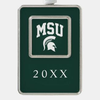 MSU Spartans Christmas Ornament