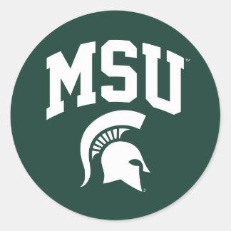 MSU Spartans Classic Round Sticker
