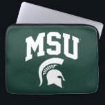"""MSU Spartans Laptop Sleeve<br><div class=""""desc"""">Check out these new Michigan State University designs! Show off your MSU Spartan pride with these new Michigan State products. These make perfect gifts for the Spartan student, alumni, family, friend or fan in your life. All of these Zazzle products are customizable with your name, class year, or club. Go...</div>"""