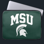 "MSU Spartans Laptop Sleeve<br><div class=""desc"">Check out these new Michigan State University designs! Show off your MSU Spartan pride with these new Michigan State products. These make perfect gifts for the Spartan student, alumni, family, friend or fan in your life. All of these Zazzle products are customizable with your name, class year, or club. Go...</div>"