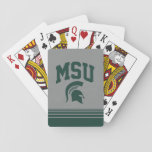 """MSU Spartans Playing Cards<br><div class=""""desc"""">Check out these new Michigan State University designs! Show off your MSU Spartan pride with these new Michigan State products. These make perfect gifts for the Spartan student, alumni, family, friend or fan in your life. All of these Zazzle products are customizable with your name, class year, or club. Go...</div>"""
