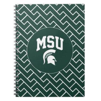 MSU Spartans Spiral Notebook