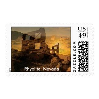 msunset, Rhyolite, Nevada Postage
