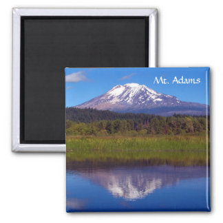 Mt. Adams from Trout Lake 2 Inch Square Magnet