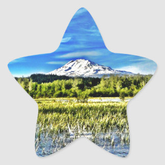 Mt Adams Towers over Trout Lake Sticker