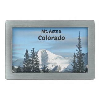 Mt. Aetna, Colorado Rectangular Belt Buckles