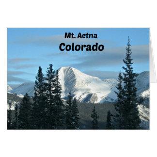 Mt. Aetna, Colorado Card