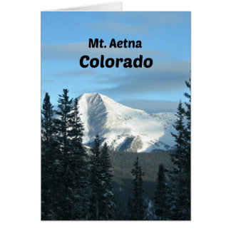 Mt. Aetna, Colorado Greeting Card