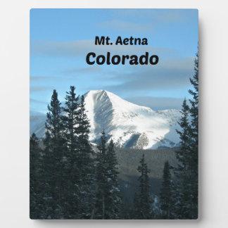 Mt. Aetna, Colorado Photo Plaques