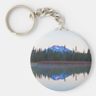 Mt Bachelor from Little Lava Lake, Oregon Keychain