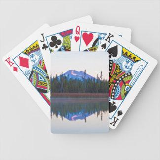 Mt Bachelor from Little Lava Lake, Oregon Poker Cards