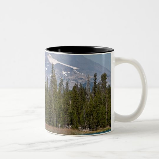 Mt Bachelor Oregon from Little Lava Lake Two-Tone Coffee Mug
