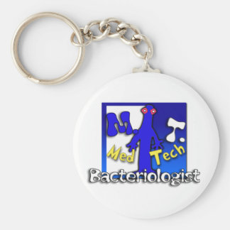 MT- BACTERIOLOGIST - MEDICAL TECHNOLOGIST - LAB BASIC ROUND BUTTON KEYCHAIN