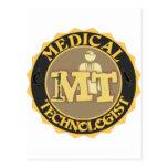 MT BADGE LOGO - MEDICAL TECHNOLOGIST - LABORATORY POSTCARD