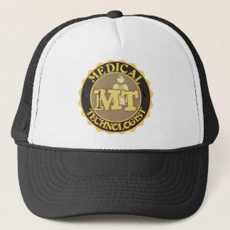 MT BADGE LOGO - MEDICAL TECHNOLOGIST - LABORATORY TRUCKER HAT