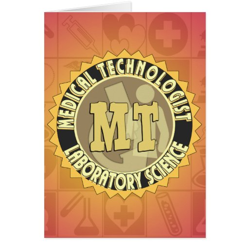 MT BADGE MEDICAL TECHNOLOGIST - LABORATORY GREETING CARD
