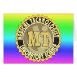 MT BADGE MEDICAL TECHNOLOGIST - LABORATORY GREETING CARDS