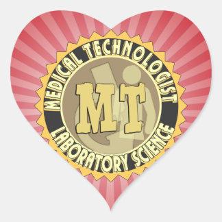 MT BADGE MEDICAL TECHNOLOGIST - LABORATORY HEART STICKER