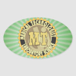 MT BADGE MEDICAL TECHNOLOGIST - LABORATORY OVAL STICKERS
