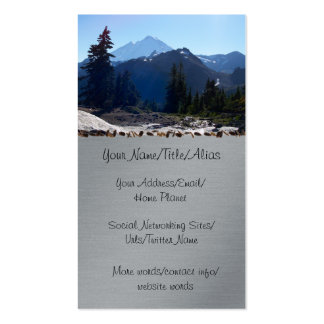 Mt. Baker from Artist Point. Business Card Template