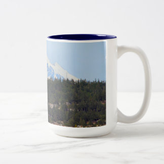 Mt Baker From The Bay Two-Tone Coffee Mug