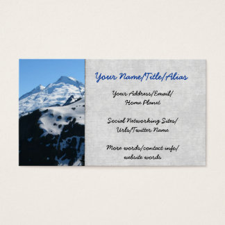 Mt Baker In July Business Card