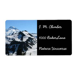 Mt Baker In July Label