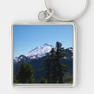 Mt Baker in Summer Keychain
