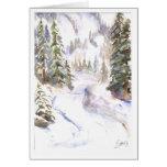 Mt. Baker ski road in snow Card