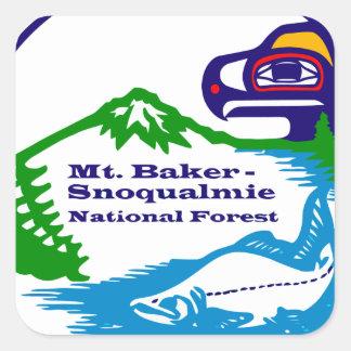 Mt Baker - Snoqualmie National Forest logo Square Sticker