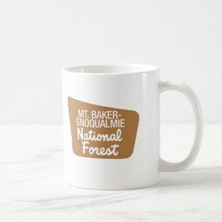Mt. Baker-Snoqualmie National Forest (Sign) Coffee Mug