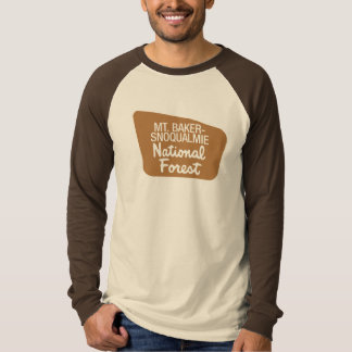 Mt. Baker-Snoqualmie National Forest (Sign) Tee Shirts