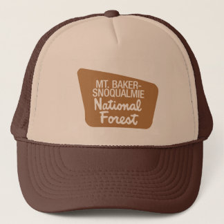 Mt. Baker-Snoqualmie National Forest (Sign) Trucker Hat