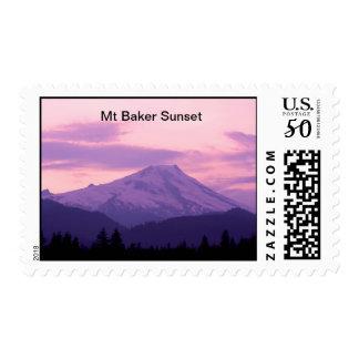 Mt Baker Sunset Postage