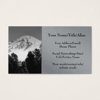 Mt. Baker Through Trees Business Card