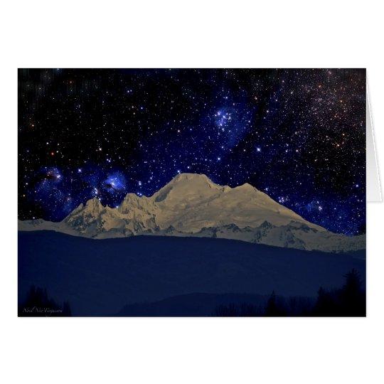 Mt. Baker, Washington State, midnight stars Card