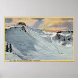 Mt. Baker, Washington - View of Mt. Baker Ski Poster