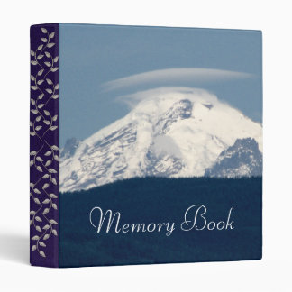 Mt Baker With Cloud 3 Ring Binder
