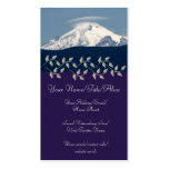 Mt Baker With Cloud Business Card Template